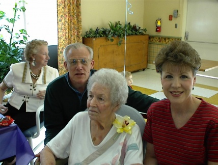 David, Verble, and Gail DeVore.  85th Birthday Celebration in April, 2002.