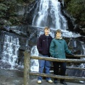 R. Elliott and Gail DeVore at Laurel Falls, Smokey Mt. National Park