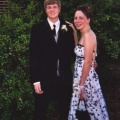 Kasey Wakeley with Tyler, Senior Prom 2004