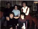 Lea DeVore Groves and Norm Groves Family.  December 25, 1973.  Norm, Jeff, Nancy, Martha, and Lea.