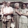 Beverly DeVore, Thomas W. DeVore, Sr., Inez Votaw DeVore, and Blanche Blue DeVore, shortly after Pappaw and Mammaw moved to sout